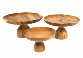 Set of 3 Wooden Stand