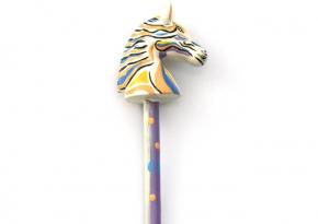 Pencil Horse Purple