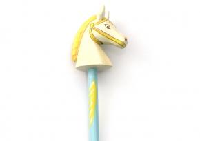 Pencil Horse Light Blue
