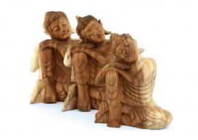 Wooden Buddha Relax (Large, Medium, Small)