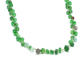 Recycled Glass Bead Necklace