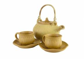 Tea Set Lotus Tan