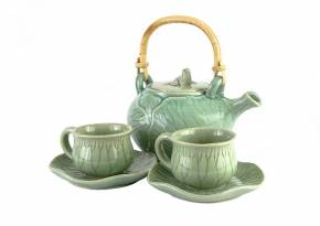 Tea Set Lotus Turquoise
