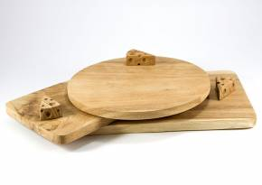 Wooden Board Cheese