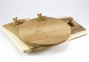Wooden Board Sitting Cat