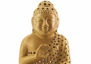 Ceramic Buddha Lantern Tan