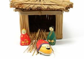 Nativity Set Bright Color